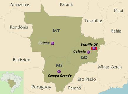 Das Panatal ist ein Tierparadies - Brasilia ist im Mittelwesten von Brasilien