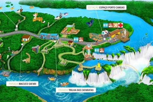 Übersicht des Nationalpark Iguassu auf Brasilianischer Seite