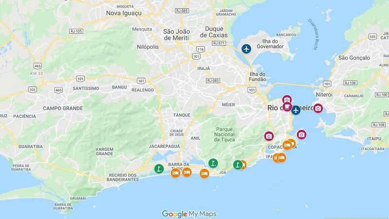 Landkarte Rio de Janeiro